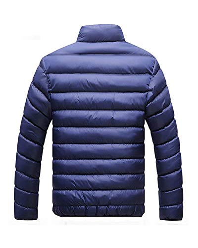 Men Outwear Dunkelblau Jacket Pockets Jacket Jackets Men Fashion Down Long Stand Collar Sleeve BOLAWOO Side Coat Brands Outerwear dTAn6wzqZ