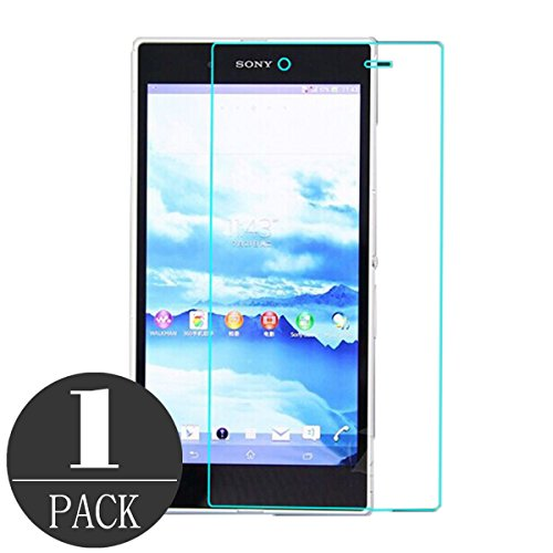 Sony Xperia Z Ultra XL39H Screen Protector, iCoverCase Premium [Ultra-clear] Tempered Glass Screen Protector Film for Sony Xperia Z Ultra XL39H C6833 (1 pack) (Sony Xperia Z Screen Protector)