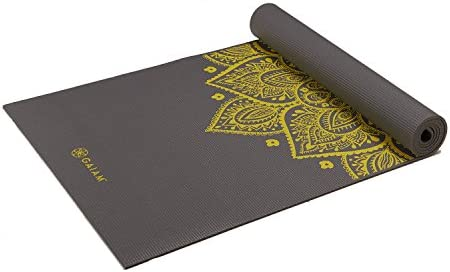 "Gaiam Yoga Mat - Premium 6mm Print Extra Thick Non Slip Exercise & Fitness Mat for All Types of Yoga, Pilates & Floor Workouts (68""L x 24""W x 6mm Thick)"