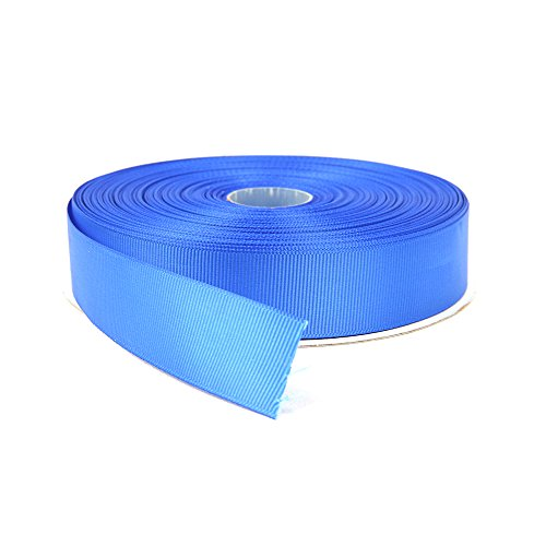 Topenca Supplies 1 Inches x 50 Yards Double Face Solid Grosgrain Ribbon Roll, Royal Blue