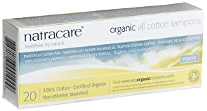 Natracare eco-friendly natural Regular Tampons without applicator