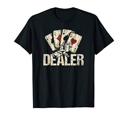 Casino Dealer TShirt Poker Dealer Shirt Costume Accessories