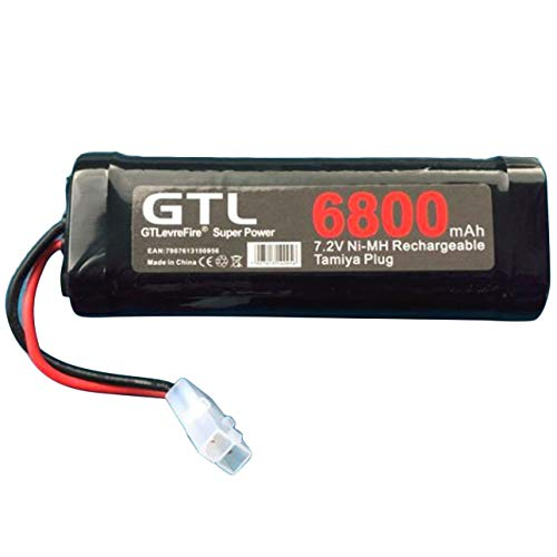 Liobaba 6800mAh 7.2V NiMh RC Toy Battery Rechargeable Flat Racing Car Replacement Battery for RC Airplane Helicopter ()