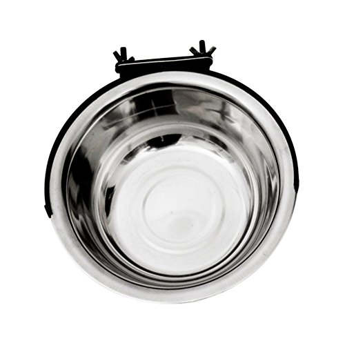 Pet Dog Bowls,Stainless Steel Dog Bowl,Pet Food Water Bowls,Cage Hanging Single Bowl By Cydnlive (S)
