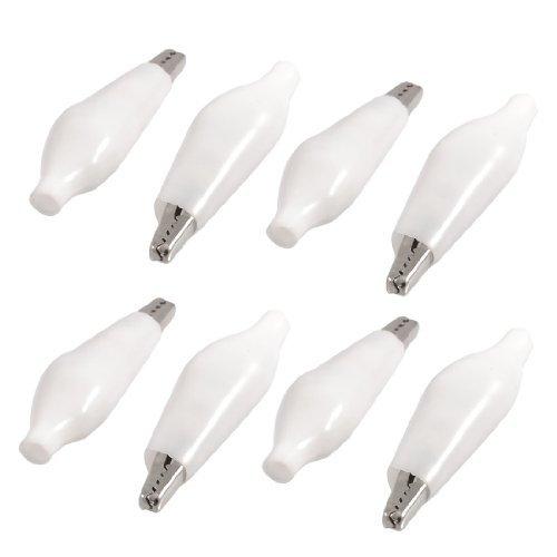 eDealMax 8 pcs blanco suave recubierto de plástico clips de metal cocodrilo Prueba de abrazadera - - Amazon.com