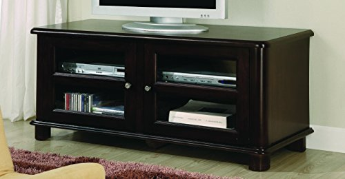 Coaster Casual Merlot TV Console with Doors and Shelves