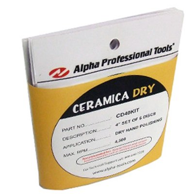 Alpha 4'' Ceramica Dry Pad Set (60-3000 Grit) by Alpha