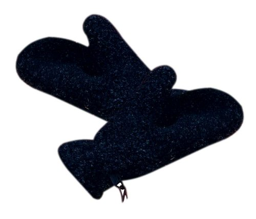 35 Degrees Below Bereber Fur Mittens BLACK