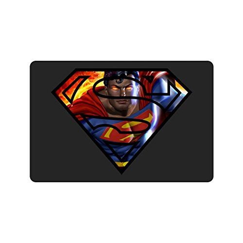 Kara Danvers Costume (HAYT Superman Logo Custom Design Doormats Outdoor Indoor Stairs Bath Front Door Small Rug Machine-Washable Neoprene Rubber Doormat 23.6