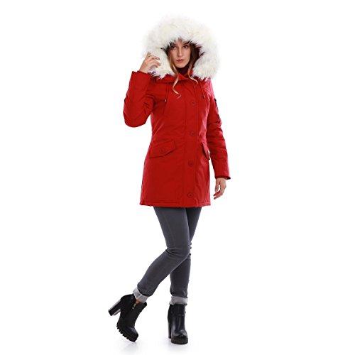 La Modeuse - Abrigo - para mujer Rojo