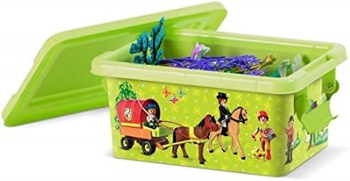 PLAYMOBIL - Caja de almacenaje de plástico 3, 7 L, 28 x 12 x 19 cm, Granja: Amazon.es: Hogar