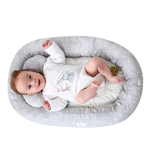 KAKIBLIN Baby Bassinet for Bed,Baby Lounger Bed Bassinet for Newborn Baby Portable Crib, Suitable for 0-8 Months