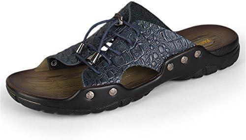 Yaunli Men's Sandals Antislip Men Large Size Summer Personality Non-slip Flip Flops Durable Beach Slippers Suitable For Outdoor Wearing Beach Shoes (Color : Blue, Size : 37)