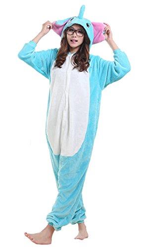 iNewbetter Animal Cosplay Costumes Kigurumi Onesie Pajamas Outfit Elephant L (Elephant Onesies For Adults)