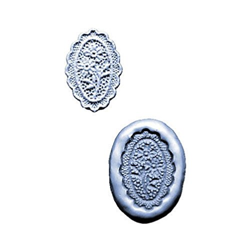 Silicone Mold Lace Maker: Scalloped Oval 2-1/4