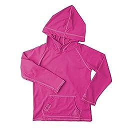 UV SKINZ UPF50+ Girls Pullover Hoodie-Hot Pink-8