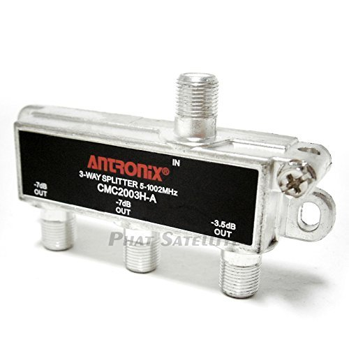 Antronix 3-Way RG6 Splitter Coaxial Signal 3-Output 1GHz 1002MHz