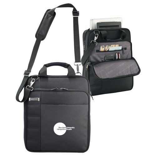 Maryland Integrative Health Kenneth Cole Black Vertical Checkpoint Friendly Messenger 'Primary Mark' by CollegeFanGear