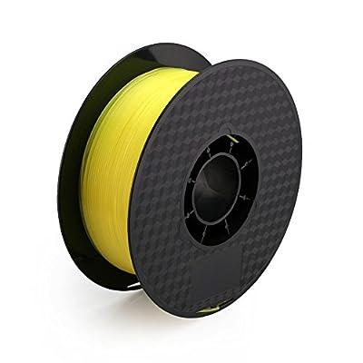 SEGADEN LININS PLA 1.75 mm 3D Printer Filament 1 KG Spool 2.2 LBS Transparent Yellow OPR3200TRY