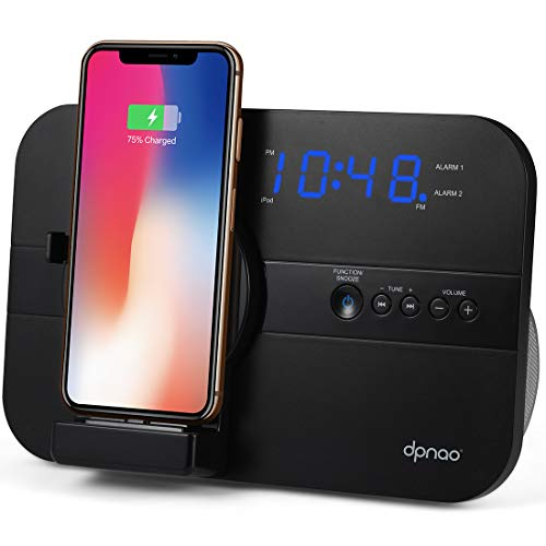 dpnao Clock Radio Dual Alarm Charging Dock...