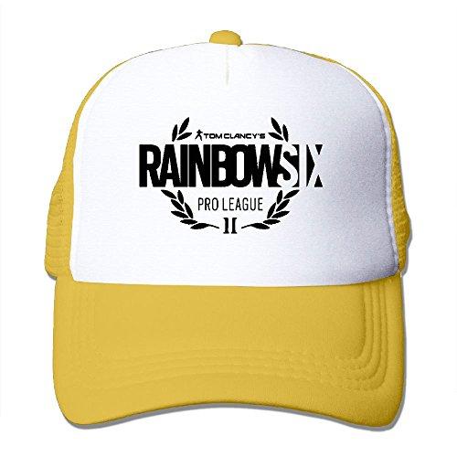 Vintage Cap Seat para Rainbow mujer Six Mesh Hat Aidear Style hombre Comfortable para y Yellow wOqYxga