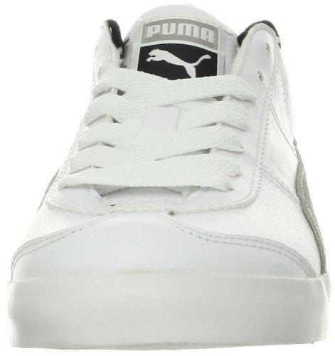Puma Roma LP Low Lodge Sneaker White/Limestone Gray/Black pFyOfnH