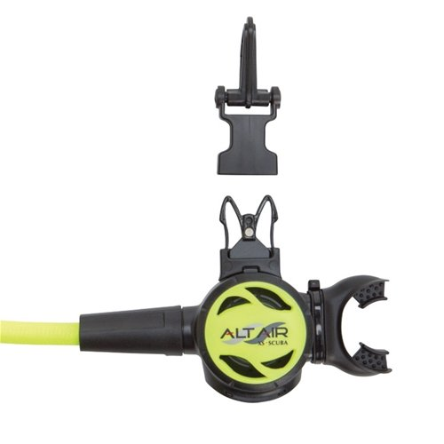 XS Scuba AltAir Alternate Octopus Yellow Miflex Hose
