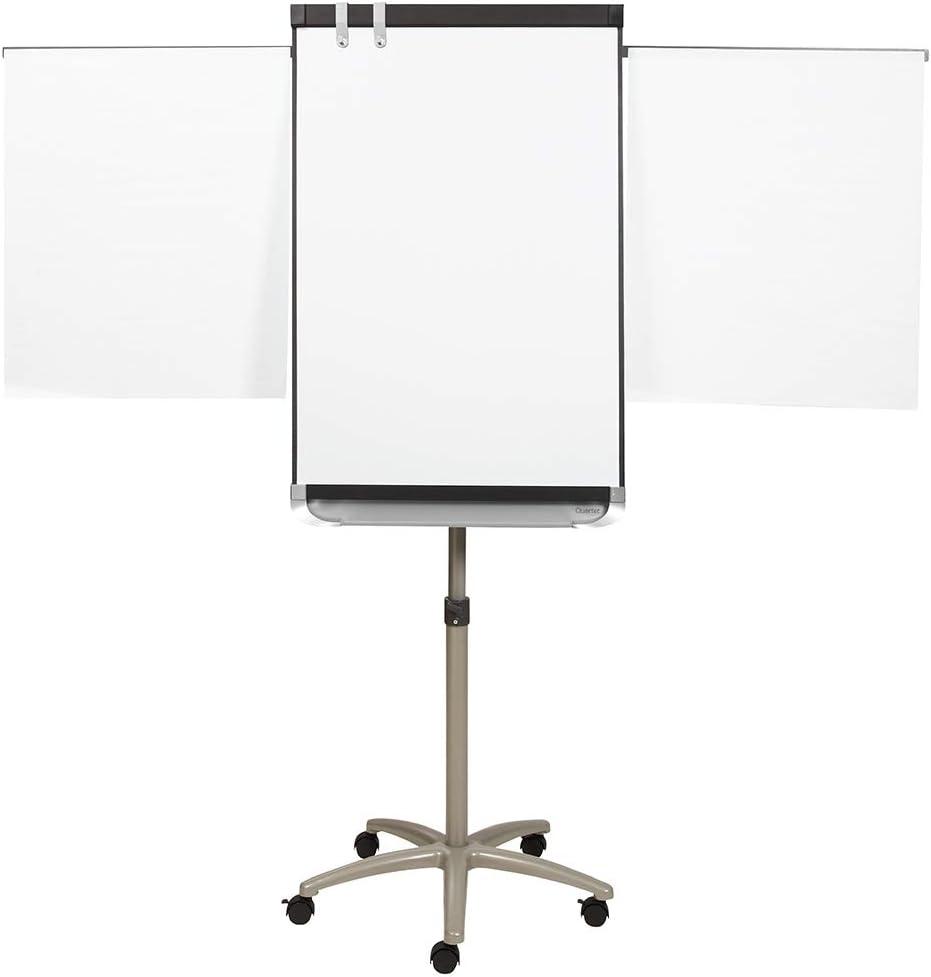 Quartet Easel, Magnetic Whiteboard, 2' x 3', Adjustable, Mobile, Flipchart Holder, Prestige 2, Black Frame (ECM32P2)