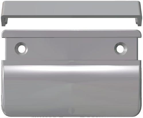 10 ST Balkont/ürgriff eckig f/ür den Au/ßenbereich silbergrau RAL 7001 70x50x12