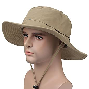 ISEYMI Wide Brim Caps Sun Block Collapsible Hats Fishing Golf Hat  Sombriolet Sun Hat UPF50+ e29c31480f3b