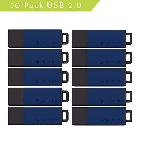 (Centon Value Pack USB 2.0 Datastick Pro2 (Blue), 4GB 50 Pack (S1-U2T1-4G-50)
