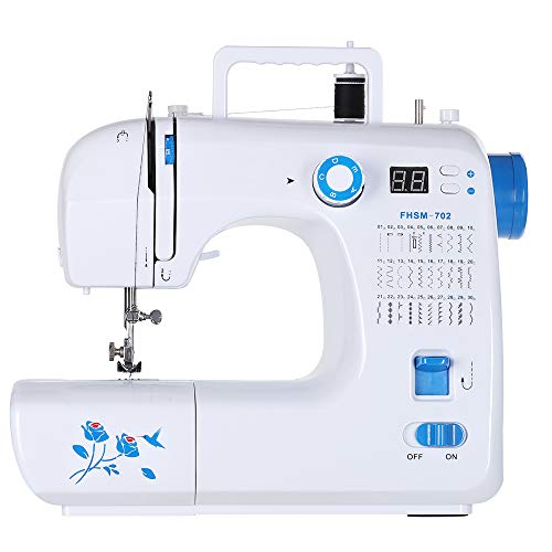 Sewing Machine Portable Electric Household Double Thread 30 Built-in Stitches Sewing Craft & Embroidery, Ideal for Beginners