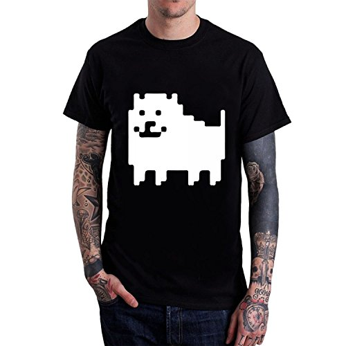 Men's Undertale Annoying Dog Tee shirts Black (Shirts Dog Customize)