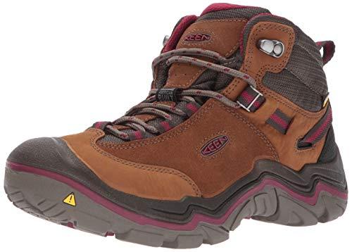 KEEN - Women's Laurel Mid Waterproof Hiking Boot, Monks Robe/Rhododendron, 9 M US