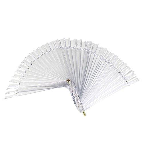 Flat Ballerina Card (YYBZJ 120 Pcs False Nail Art Board Tips Stick Polish Display Fan Practice Stand Tools Nail Color Card Display Stand clear)