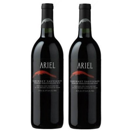 California Chardonnay Wine - Ariel Cabernet Sauvignon Non-alcoholic Red Wine Two Pack (Pack of 2)