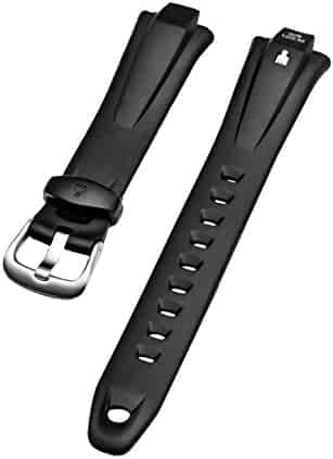 Timex Ironman 16mm 50 Lap Black Rubber Watch Band T5C661