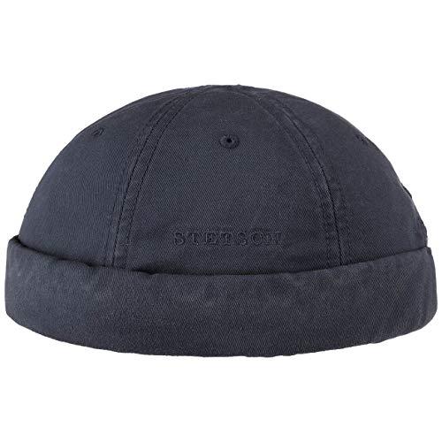 Coton Bleu Bonnets Fonce ete Stetson En DockerFermeture Velcro Ocala Docker HommeEte Fin Anti Uv Printemps Protection Bonnet Rj34A5L