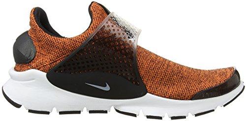 Nike Se Fléchette Chaussette Hommes Chaussures De Course En Terre Orange / Blanc-noir-blanc 911404-801 Terre Orange / Blanc-noir-blanc