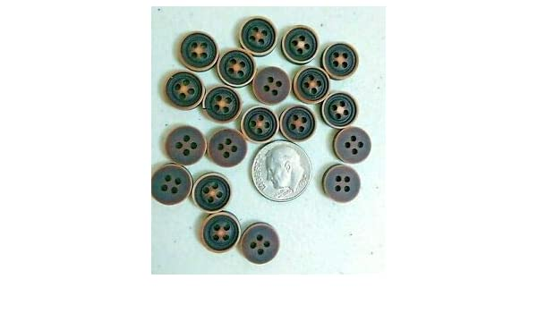 "11mm 1194 Pkg of 20 FLOWER Laser Cut 4-hole Dark Coconut Shell Buttons 7//16/"""