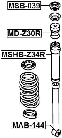 Arm Bushing Rear Shock Absorber For Mitsubishi 4162A036 4162A036
