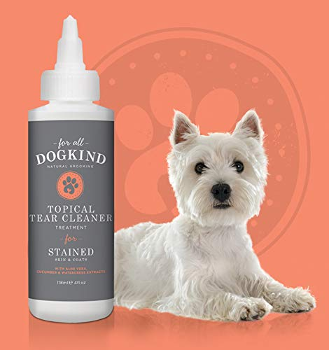For All DogKind Topical Tear & Saliva Stain Remover | Natural Cleansing Liquid 118ml | Gently Removes Eye Residue & Prevents Stains 2