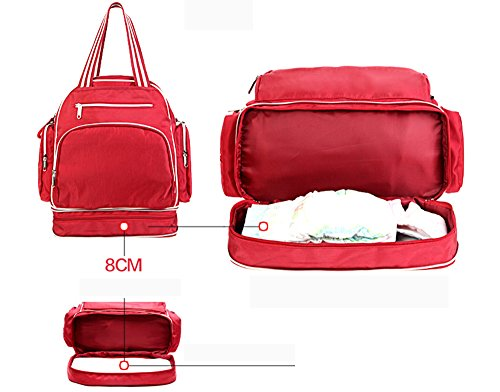Bolsa de la momia, mochila, bolsa de múltiples funciones de gran capacidad de la madre y la madre embarazada, para producir bolsas ( Color : Gris ) Gris