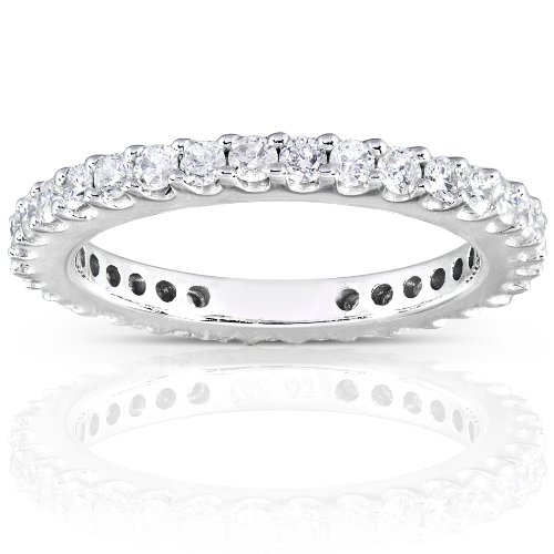 Diamond Eternity Wedding Band 3/4 carat (ctw) in 14K White Gold