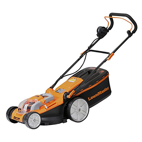 LawnMaster CLMB4016K 40V rechargeable Lithium-Ion Electric Lawn Mower, 16
