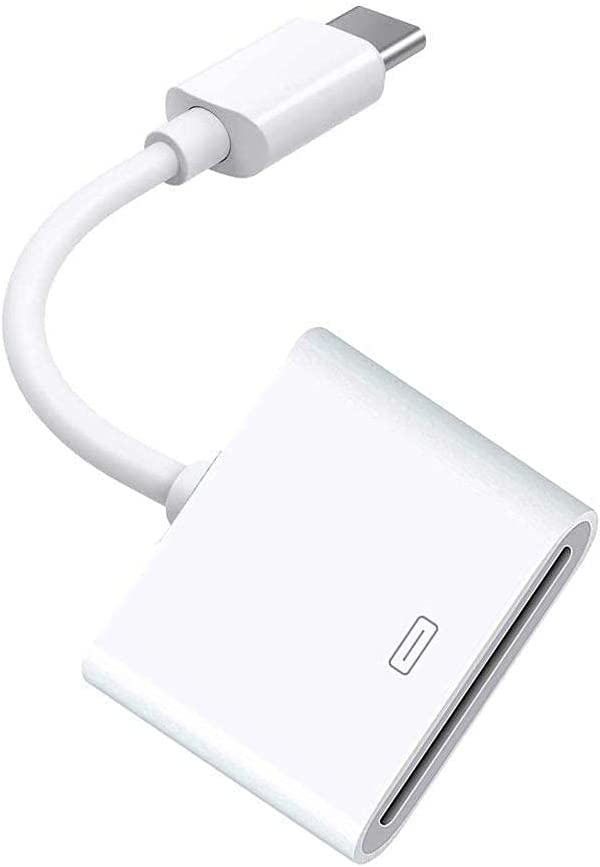 30-Pin Female to Type C USB 3.1 Male USB-C Adapter Cable Computers Components Accessories (White)