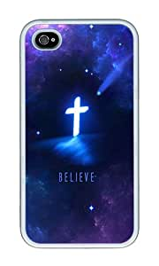 iPhone 4 Case,iPhone 4S Case,VUTTOO Stylish Religious Christian Soft Case For Apple iPhone 4/4S - TPU White