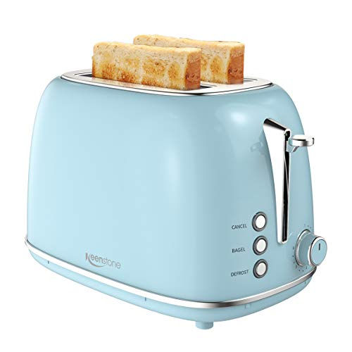 2 Slice Toaster with Bagel, Cancel, Defrost Function and 6 Bread Shade Settings...
