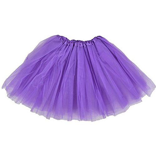Top Rated Classic Elastic Ballet-Style Adult Tutu Skirt, by BellaSous. Great princess tutu, adult dance skirt, petticoat skirt or pettiskirt tutu for women. Tulle fabric - Purple