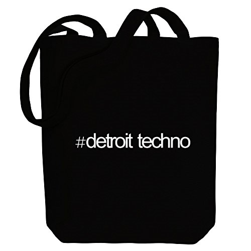 Music Idakoos Hashtag Hashtag Tote Detroit Techno Bag Canvas Idakoos Techno Music Detroit X8qwEC